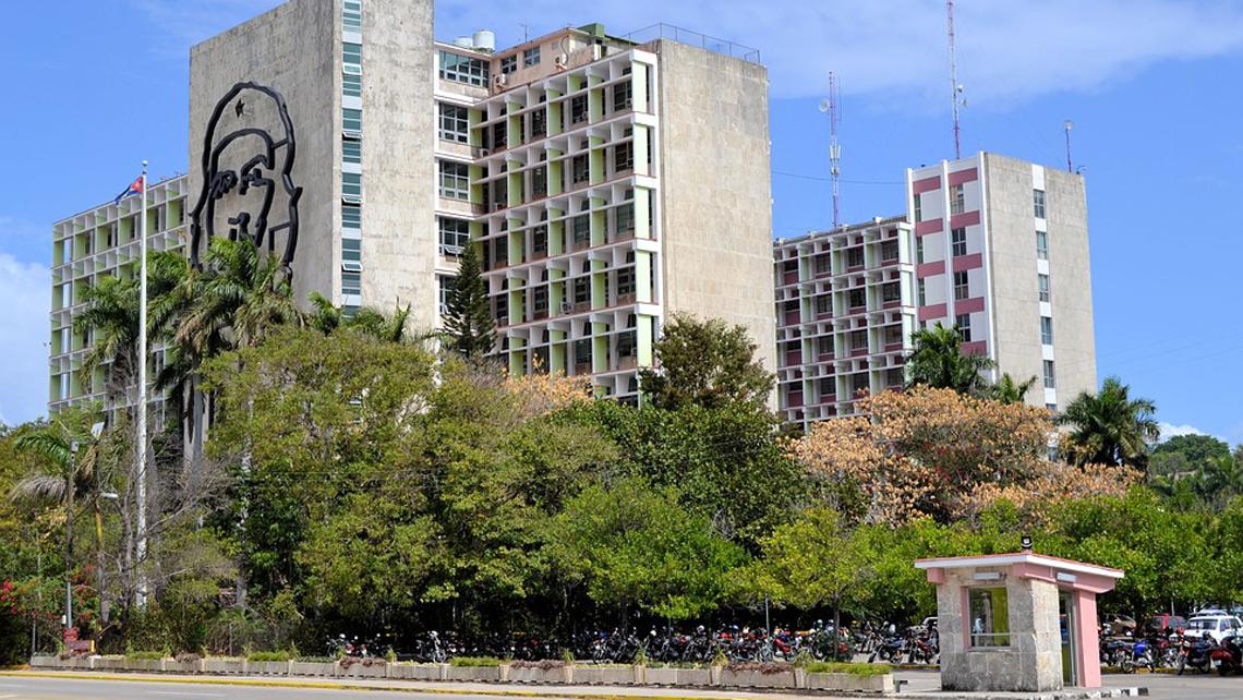 Government buildings around Revolution Square in Havana